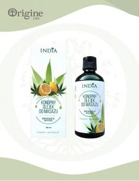 Huile de massage à l'huile de chanvre parfum agrumes