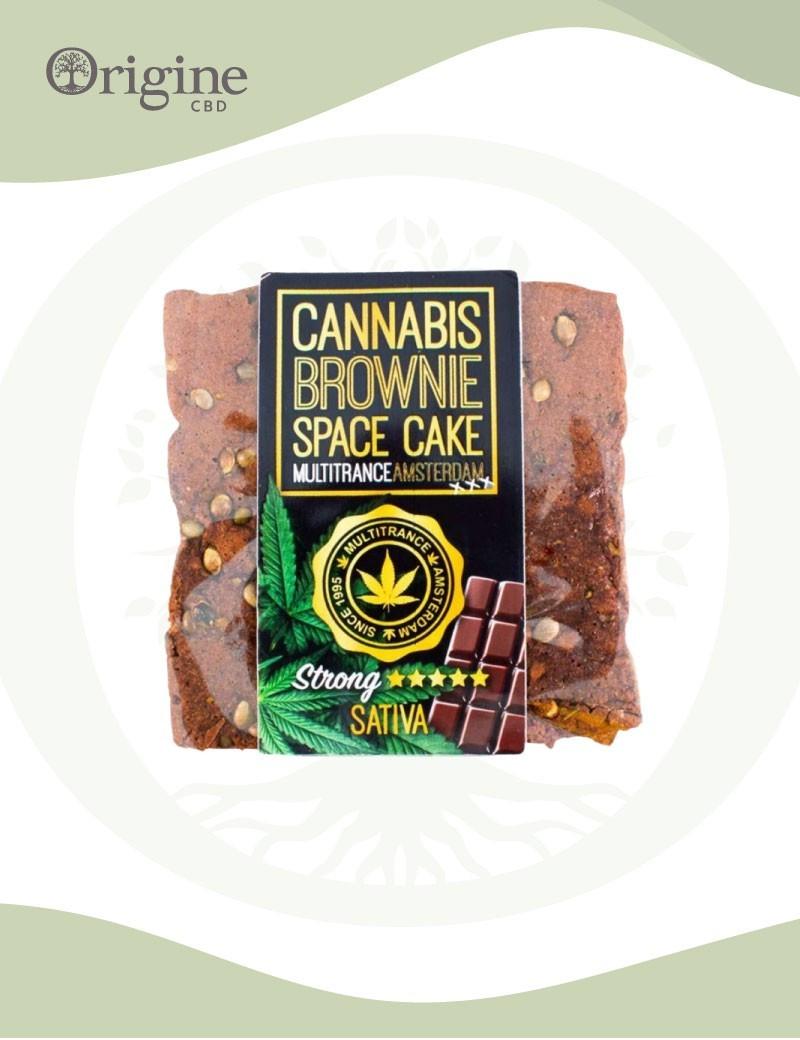 Brownie à base de chanvre saveur chocolat