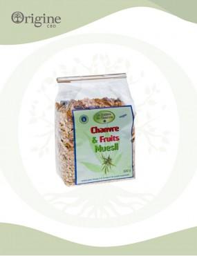 Muesli au chanvre et fruits 500g Bio
