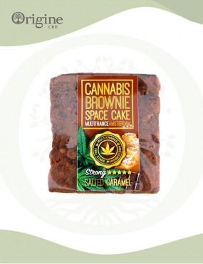 Brownie à base de chanvre saveur Caramel salé